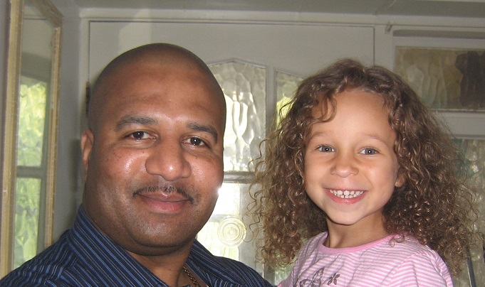 Dr Os Reid pictured here with his daughter