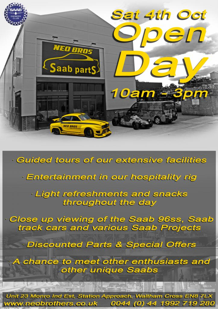 Neo Brothers Saab Open Day 4th October 2014