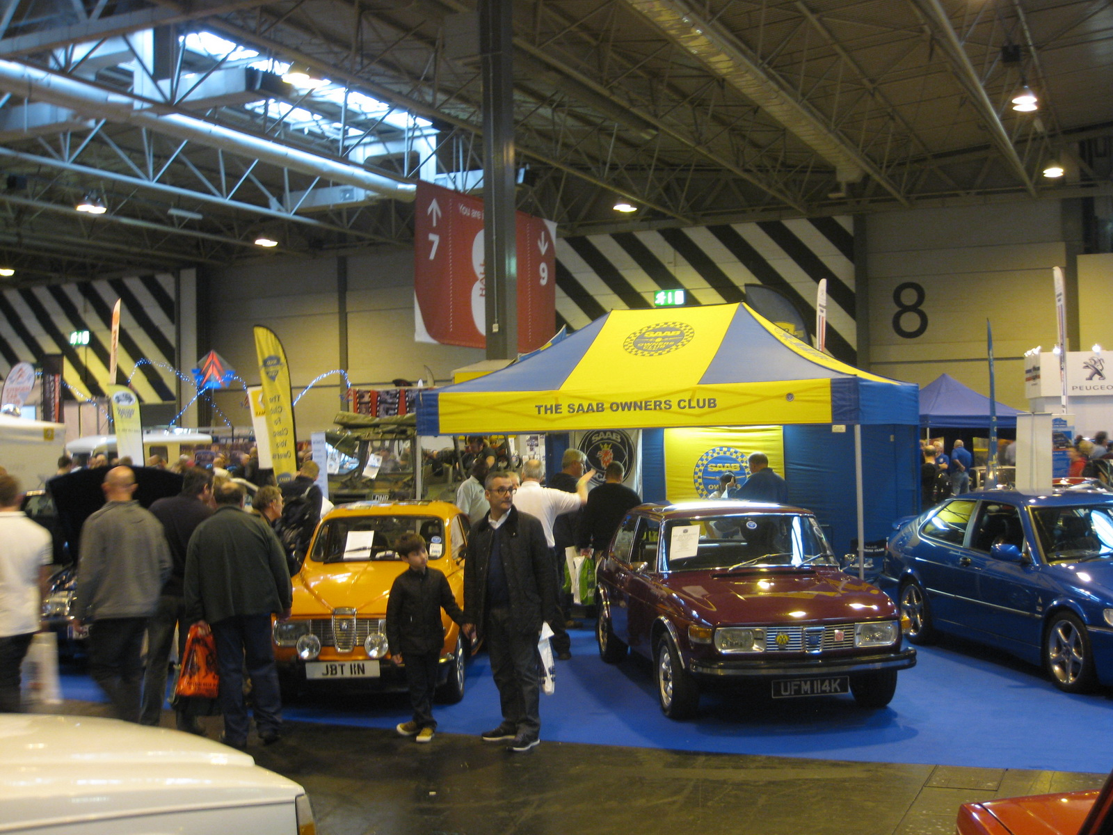 Classic Car Show 2014 Saab Club Stand